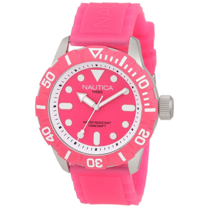 Nautica Women's N09607G South Beach Jelly Pink Silicone Watch
