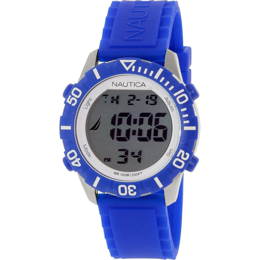 Nautica Unisex N09932G NSR Digital Blue Silicone Watch