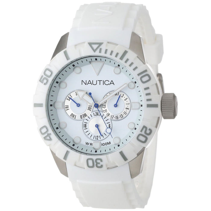 Nautica Unisex N13639G NSR Multi-Function White Silicone Watch