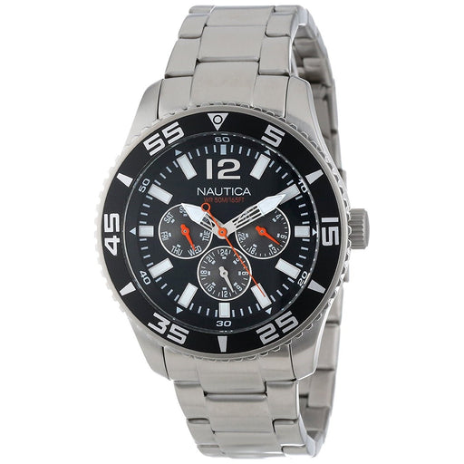 Nautica Men's N13652G NST Multi-Function Stainless Steel Watch