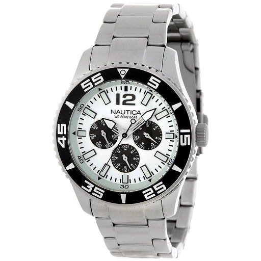 Nautica Men's N13653G NST Multi-Function Stainless Steel Watch