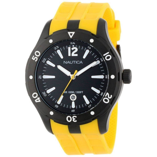 Nautica Unisex N15626G NST Yellow Silicone Watch