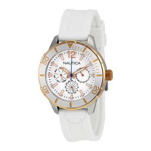 Nautica Unisex N15631M Active Multi-Function White Silicone Watch