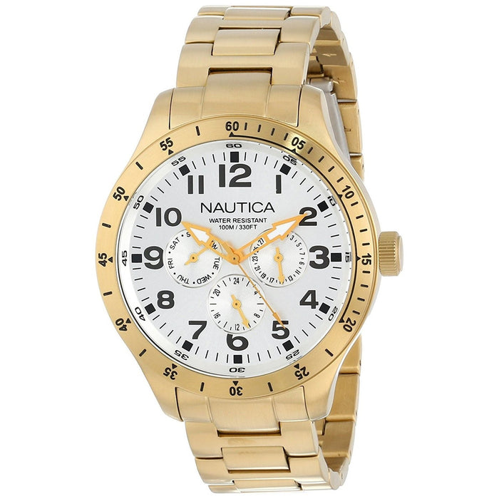 Nautica Men's N16658G BFD Multi-Function Gold-Tone Stainless Steel Watch