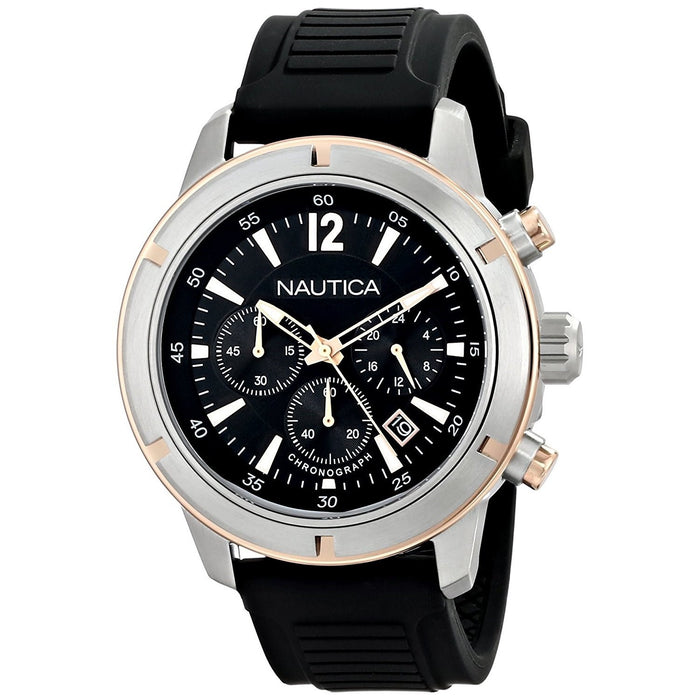 Nautica Men's N17654G BFD Chronograph Black Silicone Watch