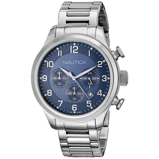 Nautica Men's N17664G BFD Chronograph Stainless Steel Watch