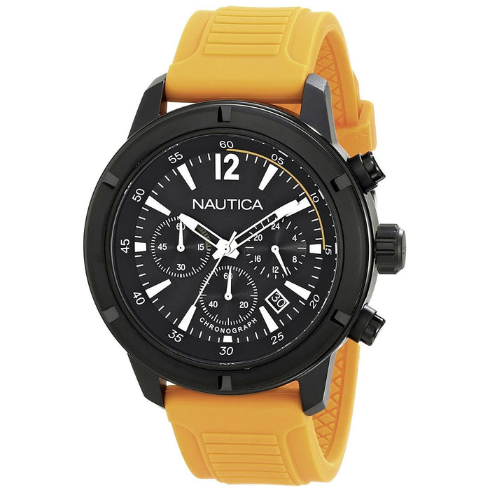 Nautica Men's N18711G NST Chronograph Orange Silicone Watch