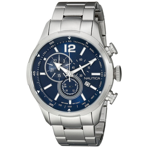 Nautica Men's NAD16508G NCS Chronograph Stainless Steel Watch