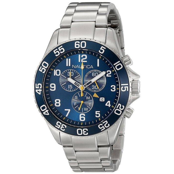 Nautica Men's NAD17508G NST Chronograph Stainless Steel Watch