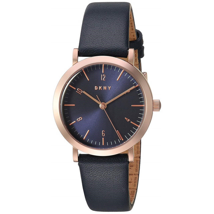 DKNY Women's NY2617 Minetta Blue Leather Watch