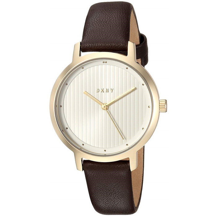 DKNY Women's NY2639 The Modernist Brown Leather Watch
