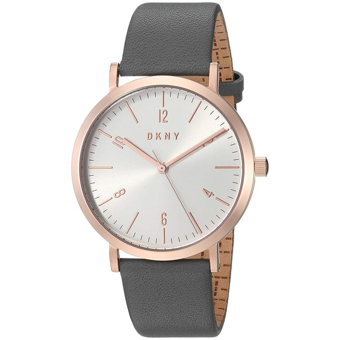 DKNY Women's NY2652 Minetta Grey Leather Watch