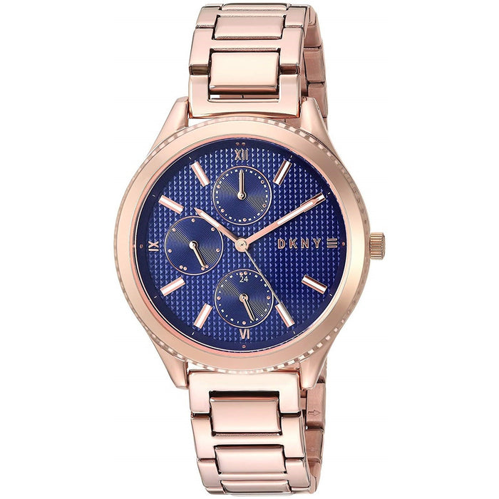 DKNY Women's NY2661 Woodhaven Chronograph Rose-Tone Stainless Steel Watch