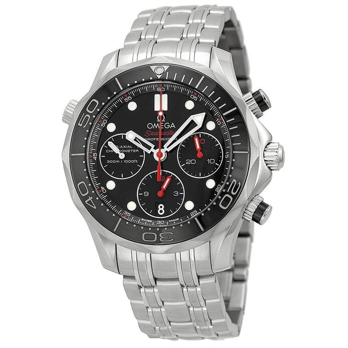 Omega Men's O21230425001001 Seamaster Diver 300 M Co-Axial Chronograph Automatic Stainless Steel Watch