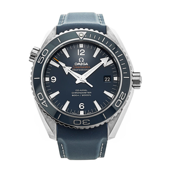 Omega Men's O23292462103001 Seamaster Planet Ocean Automatic Blue Leather Watch