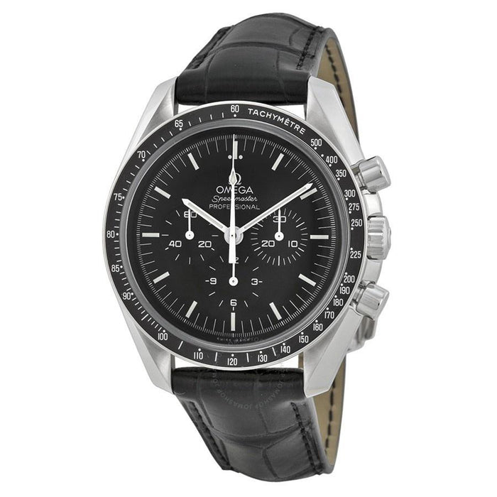 Omega Men's O31133423001001 Speedmaster Professional Moonwatch Chronograph Hand Wind Black Leather Watch