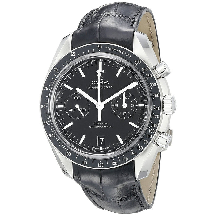 Omega Men's O31133445101001 Speedmaster Chronograph Automatic Black Leather Watch