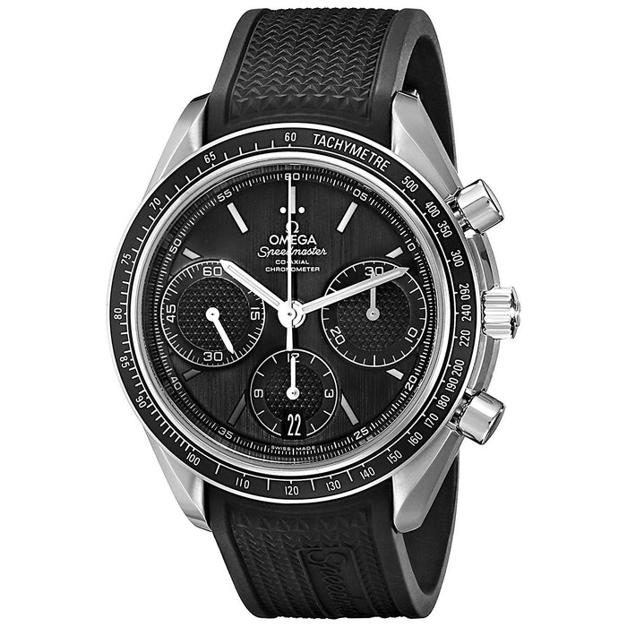 Omega Men's O32632405001001 Speedmaster Racing Chronograph Automatic Black Rubber Watch
