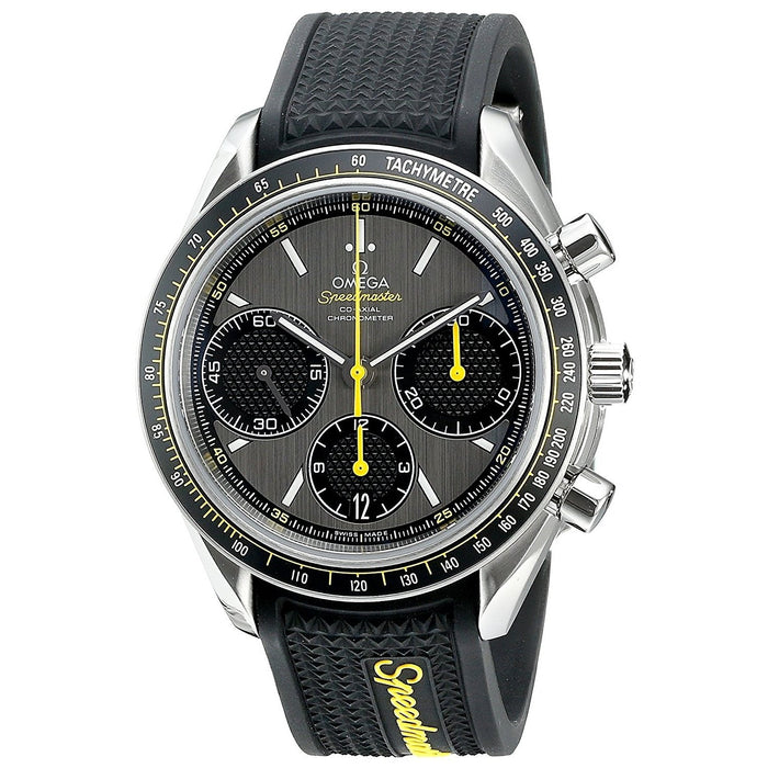 Omega Men's O32632405006001 Speedmaster Co-Axial Racing Chronograph Automatic Black Rubber Watch