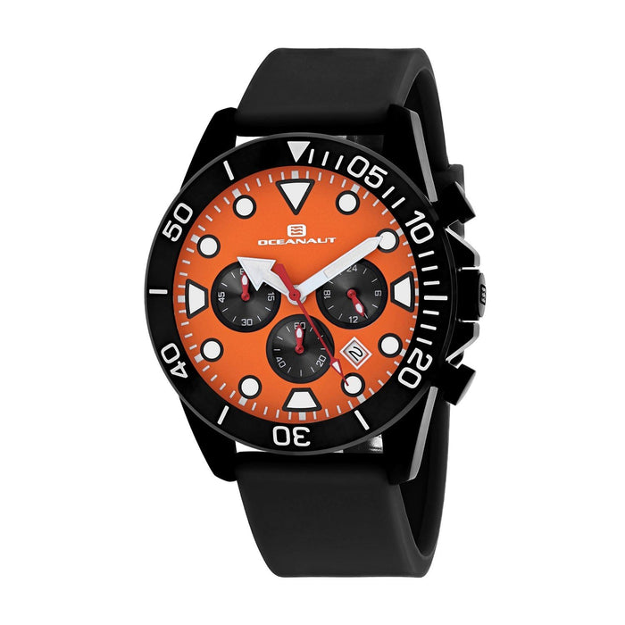 Oceanaut Men's OC1312 Naval Chronograph Black Silicone Watch