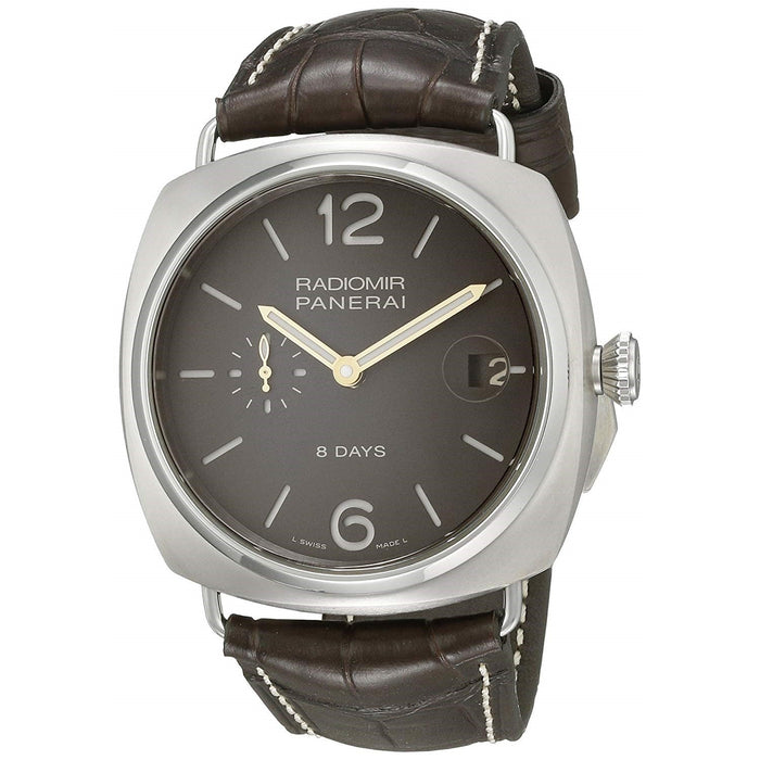 Panerai Men's PAM00346 Radiomir Titanio 8 Days Mechanical Hand Wind Brown Leather Watch