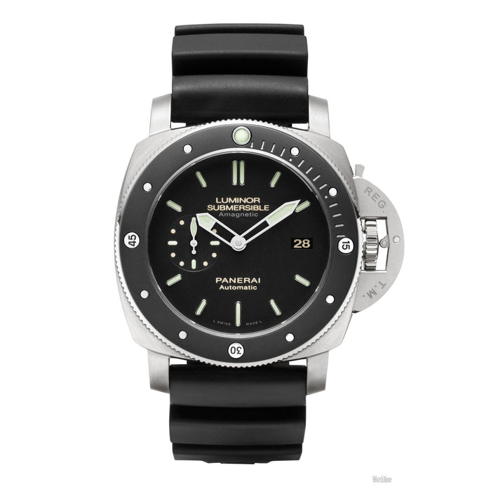 Panerai Men's PAM00389 Submersible 1950 Amagnetic Automatic Black Rubber Watch