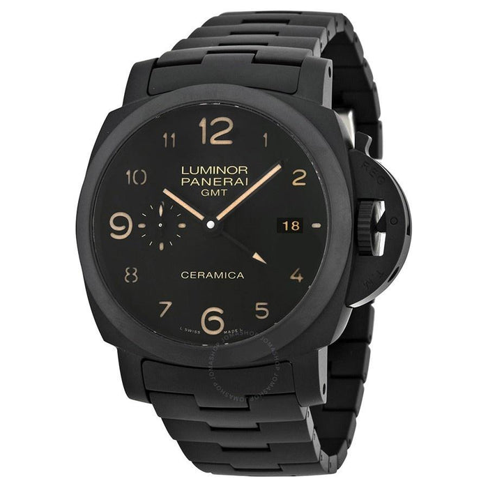 Panerai Men's PAM00438 Luminor 1950 Tuttonero GMT 3 Days Automatic Black Ceramic Watch