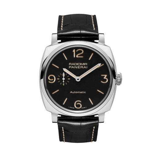 Panerai Men's PAM00572 Radiomir 1940 Acciaio 3 Days Automatic Mechanical Black Leather Watch