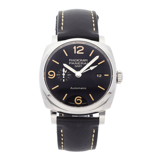 Panerai Men's PAM00627 Radiomir 1940 Acciaio 3 Days GMT Automatic Black Leather Watch