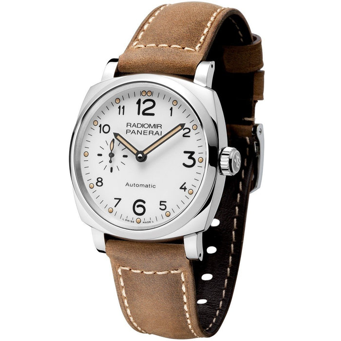 Panerai Men's PAM00655 Radiomir 1940 Acciaio 3 Days GMT Automatic Brown Leather Watch
