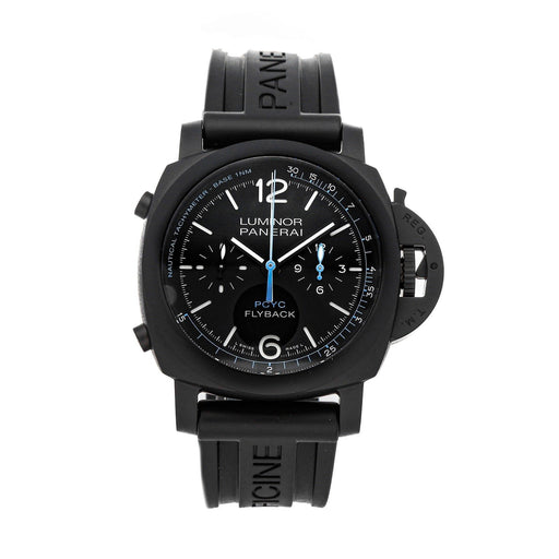 Panerai Men's PAM00788 Luminor 1950 Chronograph Black Rubber Watch