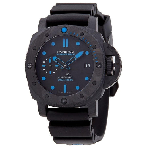 Panerai Men's PAM00799 Submersible  Black Rubber Watch