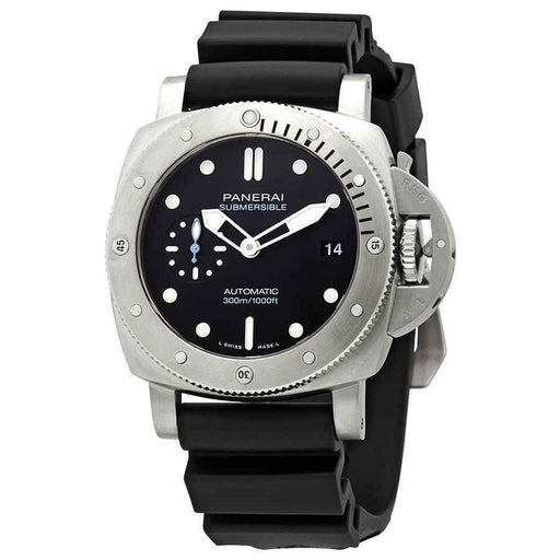 Panerai Men's PAM00973 Submersible  Black Rubber Watch
