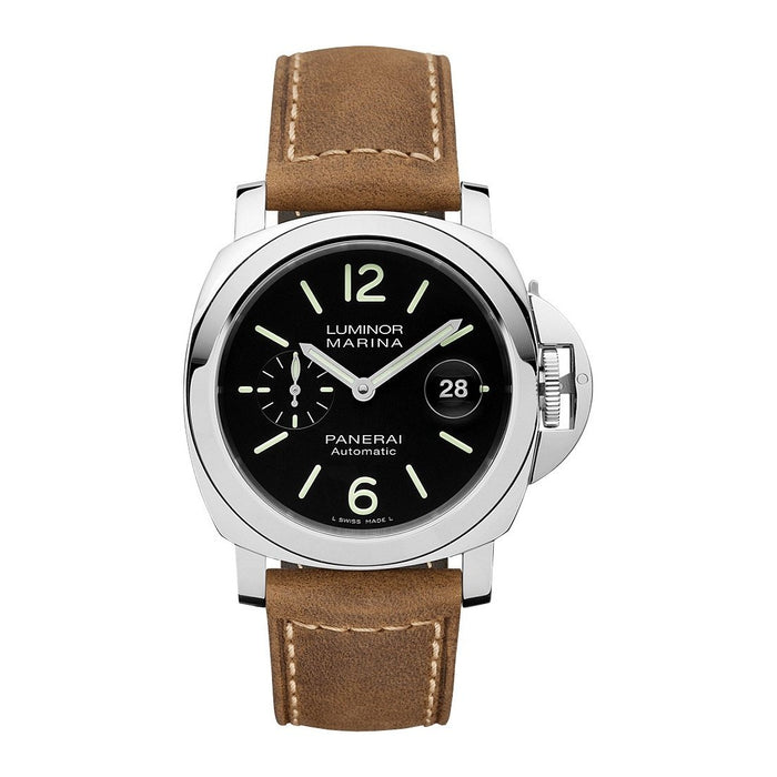 Panerai Men's PAM01104 Luminor Marina Brown Leather Watch