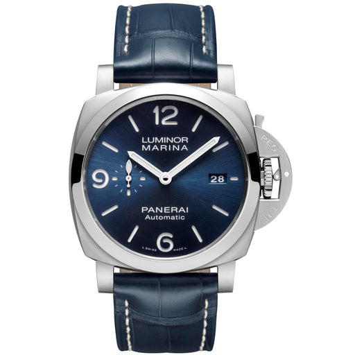 Panerai Men's PAM01313 Luminor Marina Blue Leather Watch