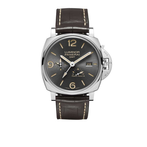 Panerai Men's PAM0944 Luminor Due GMT Brown Leather Watch