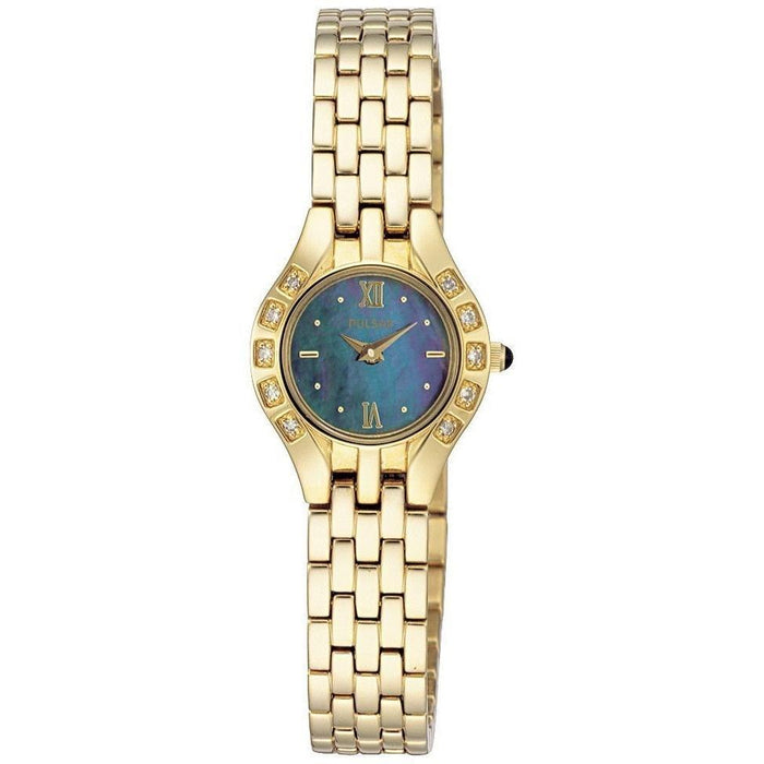Pulsar Women's PEG664 Crystal Automatic Gold-Tone Stainless Steel Watch