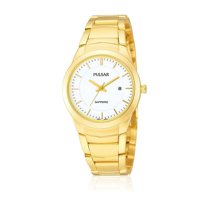 Pulsar Women's PH7256 Date Gold-Tone Stainless Steel Watch
