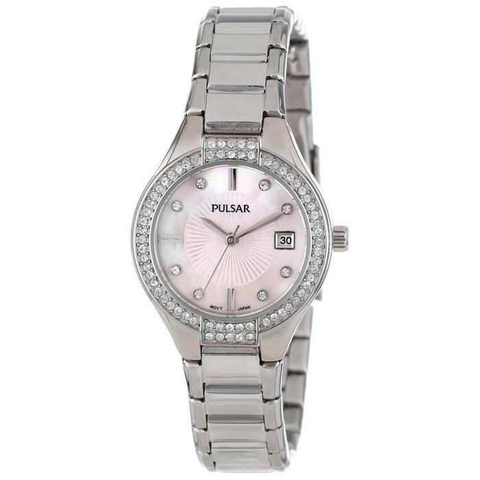 Pulsar Women's PH7289 Dress Crystal Stainless Steel Watch