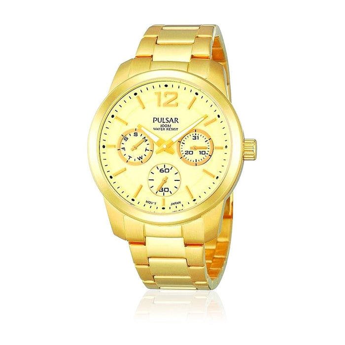 Pulsar Women's PP6060 Multi-Function Gold-Tone Stainless Steel Watch