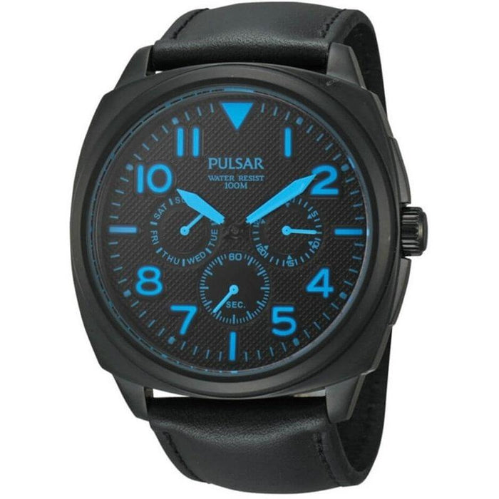 Pulsar Men's PP6083 Chronograph Black Leather Watch