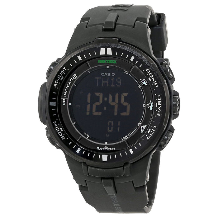 Casio Men's PRW3000-1A Pro Trek Pathfinder Digital Black Resin Watch