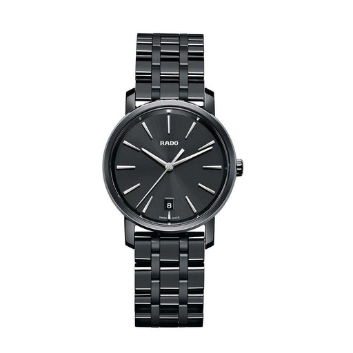 Rado Men's R14063182 Diamaster Black Ceramic Watch