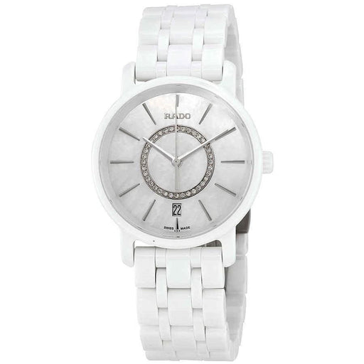 Rado Women's R14065907 Diamaster Diamond Set White High-Tech Ceramic Watch