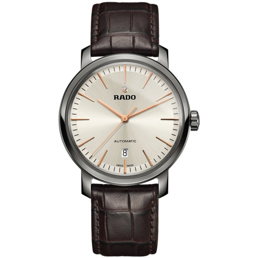 Rado Men's R14074086 Diamaster Brown Leather Watch