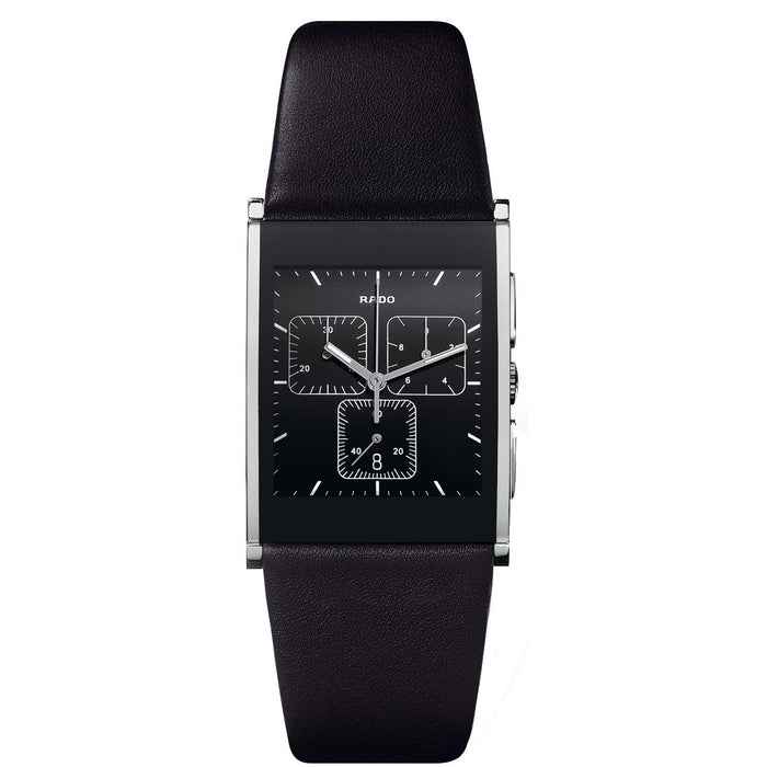 Rado Men's R20849155 Integral Chronograph Black Leather Watch