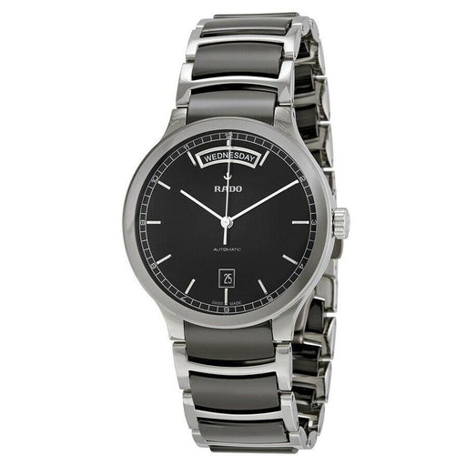 Rado Men's R30156152 Centrix Two-Tone Stainless Steel with Ceramic Inserts Watch