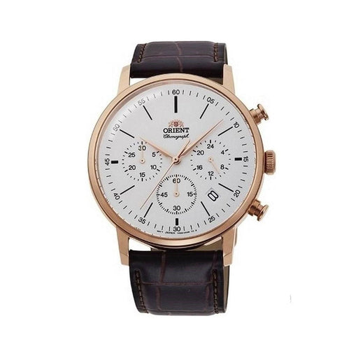 Orient Men's RA-KV0403S10B Sports Chronograph Brown Leather Watch