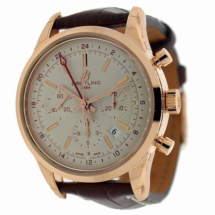 Breitling Men's RB045112-G773 Transocean Limited Chronograph Automatic Brown Leather Watch