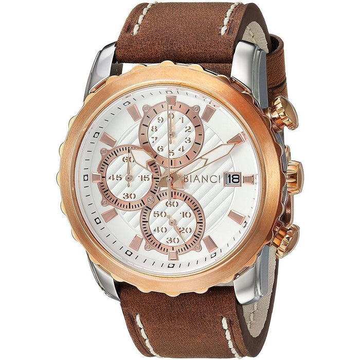 Roberto Bianci Men's RB54471 Valerio Chronograph Brown Silicone Watch